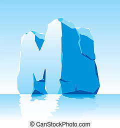 ice letter M - vector image of ice letter M