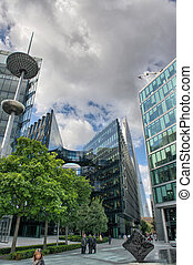 Canary Wharf is a large business and shopping development in...