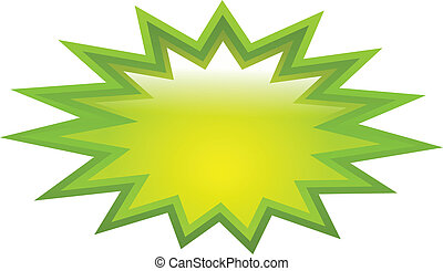 Green splash icon - Green splash vector icon isolated on...