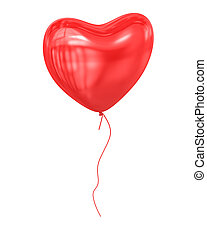 Red Balloon , 3d rendered image.
