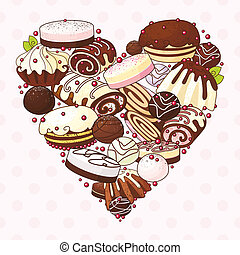 heart of sweets