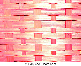 Abstract pink wicker basket