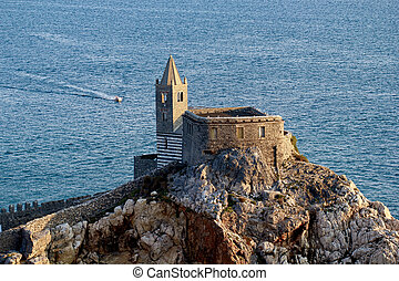 Portovenere, church from the Castle - Portovenere, castled...