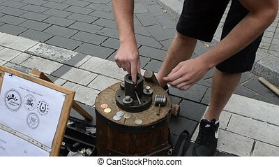 handmade coin capital day - Man make handmade occasional...