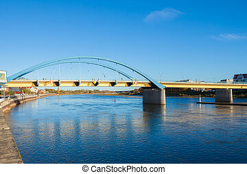 Oder Bridge, Germany to Poland - Oderbruecke Bridge,...