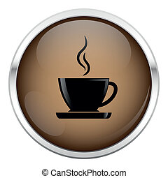 Brown coffee icon.