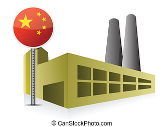 Manufacturing in China illustration