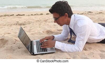 Work at beach