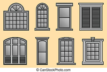 Window Frames - 8 different Window Frames