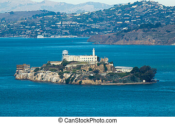 Alcatraz Island in San Francisco, USA