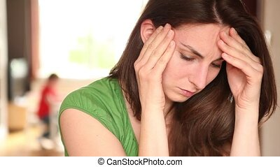 young women feeling unwell