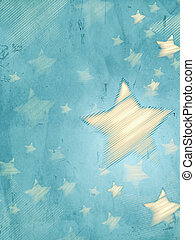 abstract blue background with striped stars, vertical