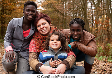 My adopted daughters - Happy family with foster children in...