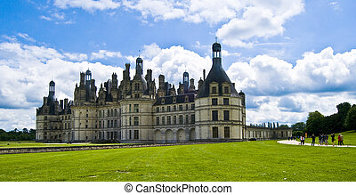 chateau de chambord on a summer day