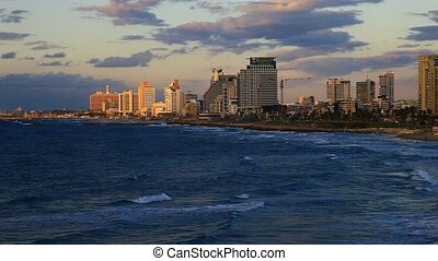 Tel Aviv, Israel. Sunset.