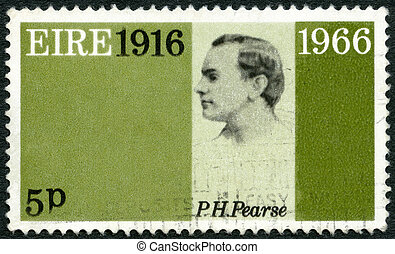 IRELAND EIRE - 1966: shows Patrick Henry Pearse 1879-1916, 5...