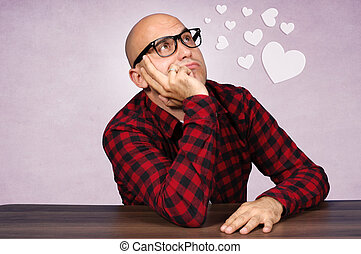 Love is everything - Bald guy is totaly in love