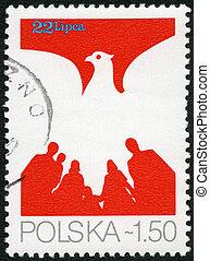 polonia, -, 1979:, mostra, aquila, Persone, devoto, 35th,...