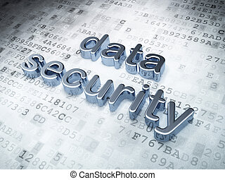 Security concept: silver data security on digital...
