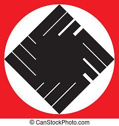 Swastika - Stylized swastika for vector design