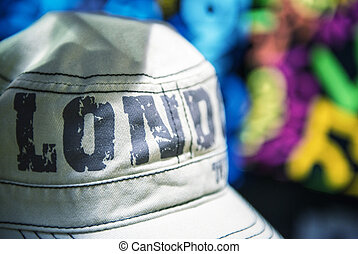 Gray Hat in Camden Town Market - London - UK
