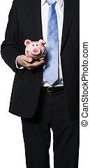 directeur,  Piggy,  bank, Vasthouden