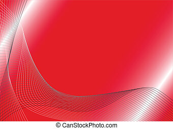Vector red background with waves
