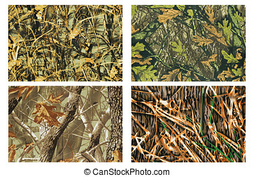 camouflage - high definition four camouflage fabric