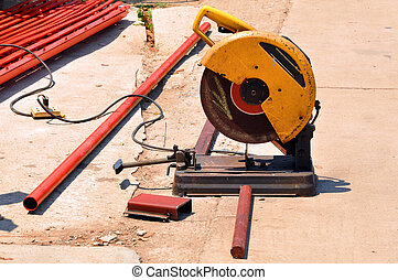 abrasive saw - An abrasive saw, also known as a cut-off saw...