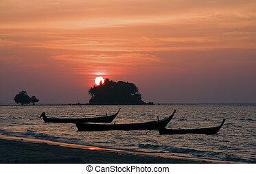 Sunset at Bang Tao Beach, Phuket