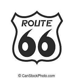 Route 66 icon - Illustration of route 66 icon