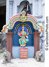 Maha Luxmi Hindu Goddess Outside Temple