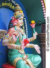 Maha Luxmi Hindu Goddess of Wealth and Prosperity Statue