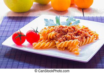 Pasta al rag from Bologna Italy
