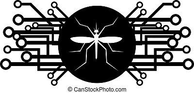 Futuristic insect icon - Creative design of futuristic...
