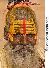 man), indio,  Sadhu,  (holy