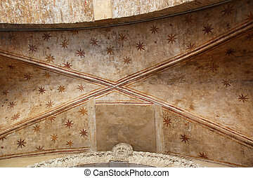 Ceiling Archway Padua - ceiling of a archway, decorated with...