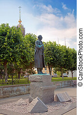 Monument Rachmaninoff - Sculpture of composer and pianist...