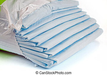 Sheets - Packing of sheets, it is isolated on a white...