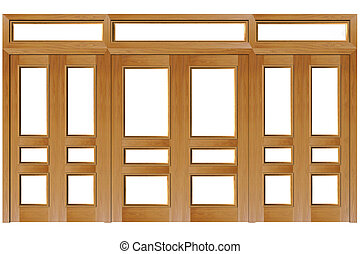 Close doors isolated on white (clipping path). 3D rendered...