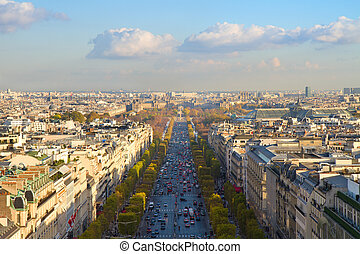 The Avenue des Champs-Elysees, Paris
