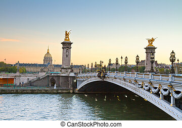 Bridge of Alexandre III, Paris - Alexandre III Bridge at...