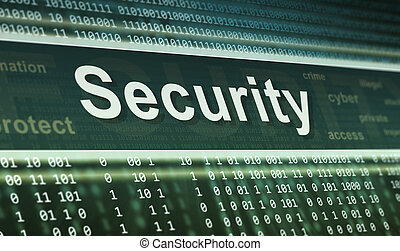 Security concept Technology background - Security concept...