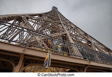Powerful Structure of Eiffel Tower in Paris
