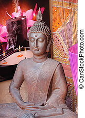 Statue of Buddha - Statue of meditating Buddha