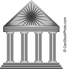 icon building - Abstract icon building with columns for...