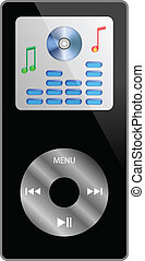 ipod - Abstraction of the MP3 player, which is located on a...