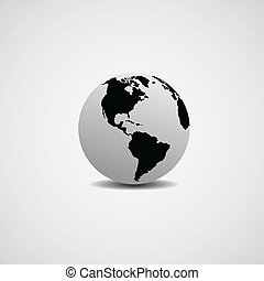 model of the world - Abstract image of a model of the world...
