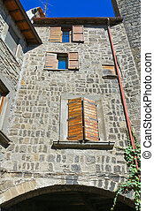 Alleyway. Viterbo. Lazio. Italy.