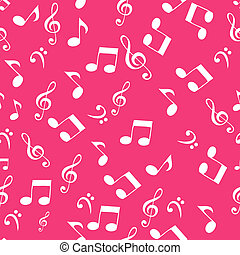 Abstract music seamless pattern background vector...